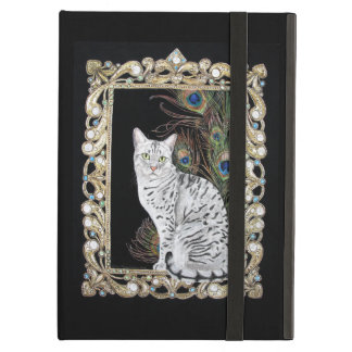 Silver Egyptian Mau Cover For iPad Air