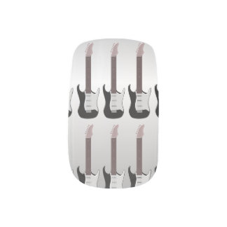 Silver Electric Guitar Minx Nail Art