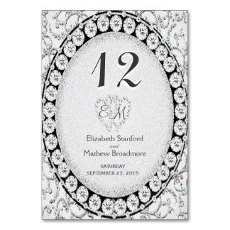 Silver Elegance Monogram Card