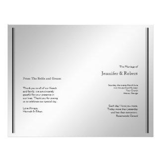 Silver Elegance Wedding Program