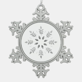 Silver elegant Diadem Pewter Snowflake Ornament