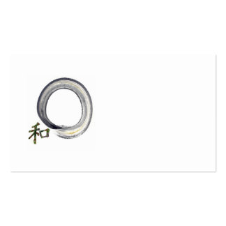 Silver Enso with Kanji character for Harmony Pack Of Standard Business Cards