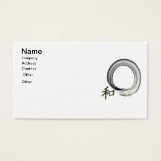 Silver Enso with Kanji - Harmony Business Card