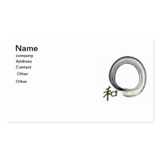 Silver Enso with Kanji - Harmony Pack Of Standard Business Cards