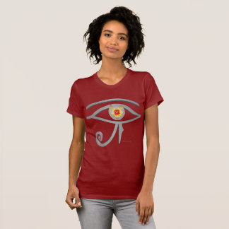 Silver Eye of Re Ladies Jersey T-Shirt
