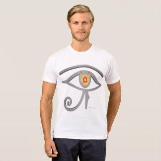 Silver Eye of Re Men's Poly-Cotton T-shirt