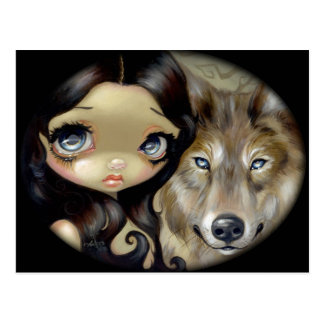 """Silver Eyed Wolf"" Postcard"
