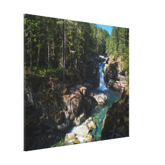 Silver Falls, Mount Rainier National Park Canvas Print