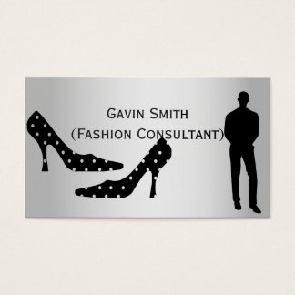 Silver Fashion Consultant Business Cards