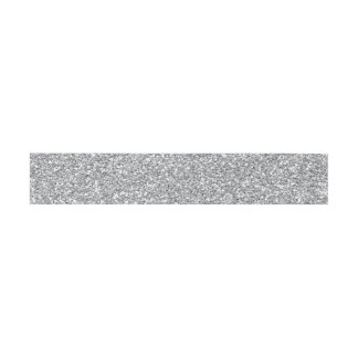 Silver Faux Glitter Belly Band Invitation Belly Band