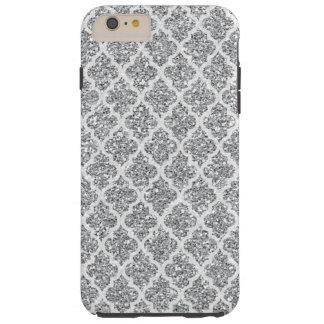 Silver Faux Glitter iPhone 6 tough Plus case