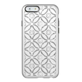 Silver Faux Glitter Modern Geometric Pattern Incipio Feather® Shine iPhone 6 Case