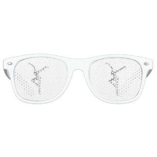 Silver FD on White Sunglasses