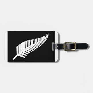Silver Fern Flag of New Zealand Luggage Tag