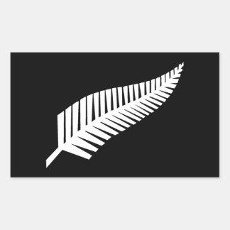 Silver Fern Flag of New Zealand Sticker