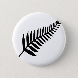 Silver Fern of New Zealand 2 Inch Round Button