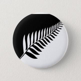 Silver Fern of New Zealand 2 Inch Round Button