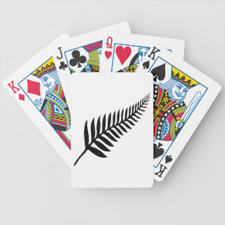 Silver Fern of New Zealand Bicycle Playing Cards