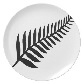 Silver Fern of New Zealand Party Plate