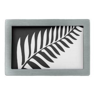 Silver Fern of New Zealand Rectangular Belt Buckle