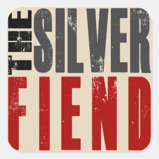 Silver Fiend square decal Square Sticker