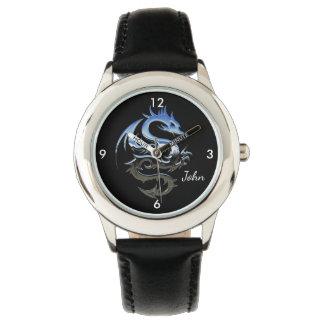 Silver Fire Dragon Wristwatches