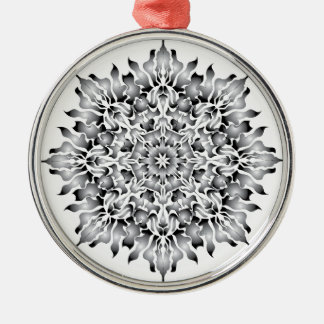 Silver Flame Snowflake Ornament