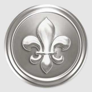 Silver Fleur de Lis Envelope Seal Embossed Look