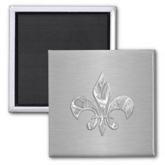 Silver Fleur de Lis Magnet