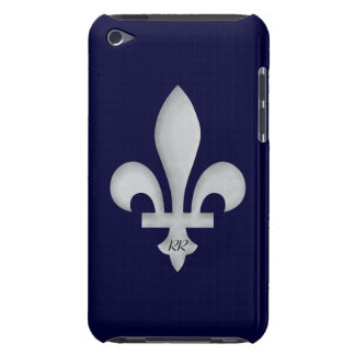 Silver Fleur-de-Lys on iPod Touch Case-Mate Case