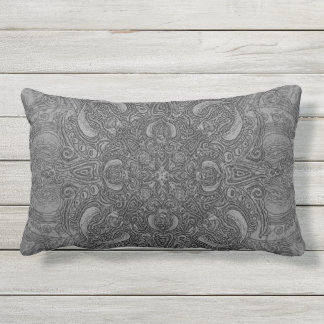 Silver Fleury Patio Lumbar Pillow