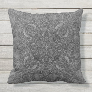 Silver Fleury Patio Outdoor Pillow