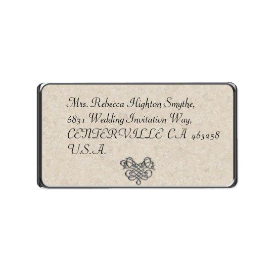 Silver Flourish Wedding Address Labels
