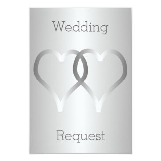 Silver Flower Girl Request Card