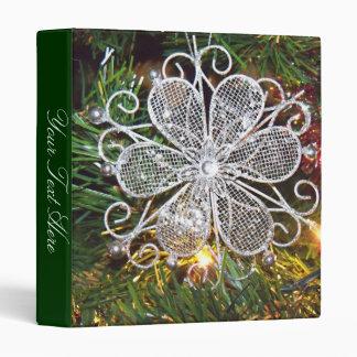 Silver Flower Ornament Binder Vinyl Binders