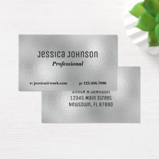Silver Foil Business Card with Pearl Finish