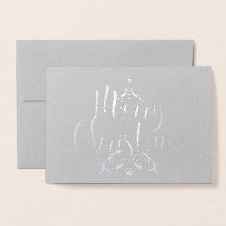Silver Foil Christmas Tree Card