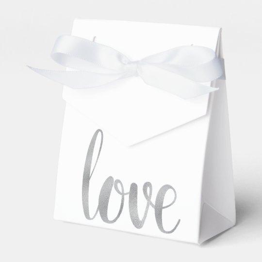 Silver foil favour boxes