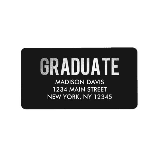 Silver Foil Graduation Address Labels