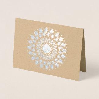 Silver Foil Lotus Mandala Foil Card
