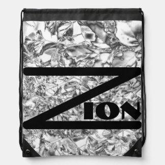 Silver Foil Zion Cinch Bags