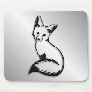 Silver Fox Mouse Pad