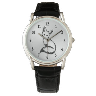 Silver Fox w Numbers Watch