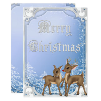 Silver Framed Rudolph & Clarice Merry Christmas Card