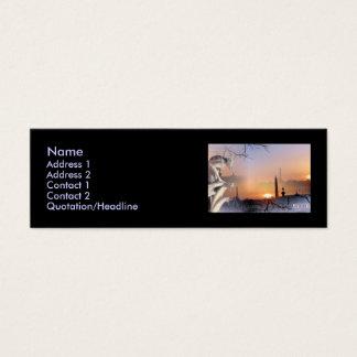 Silver Gargoyle, template Mini Business Card