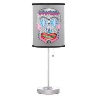 Silver Gemma Candy Skull Lamp