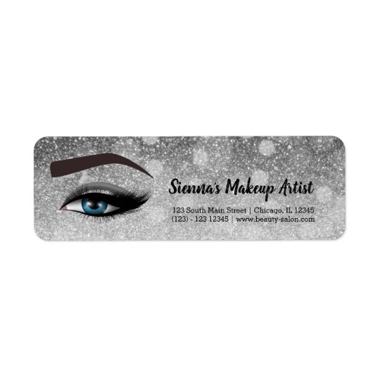 Silver glam lashes eyes | makeup artist