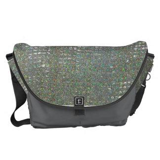 Silver Glass Mosaic messenger bag