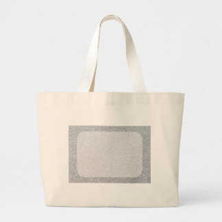 Silver glitter blank template large tote bag