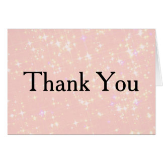 Silver Glitter Confetti Faux Foil Thank You Card